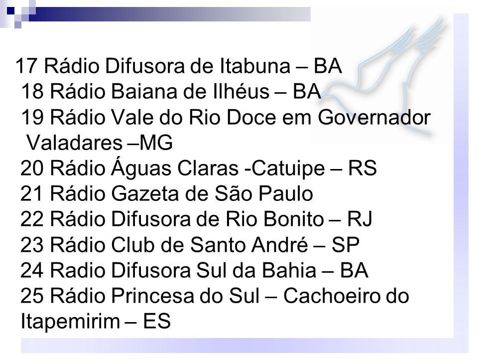 17 Rádio Difusora de Itabuna – BA