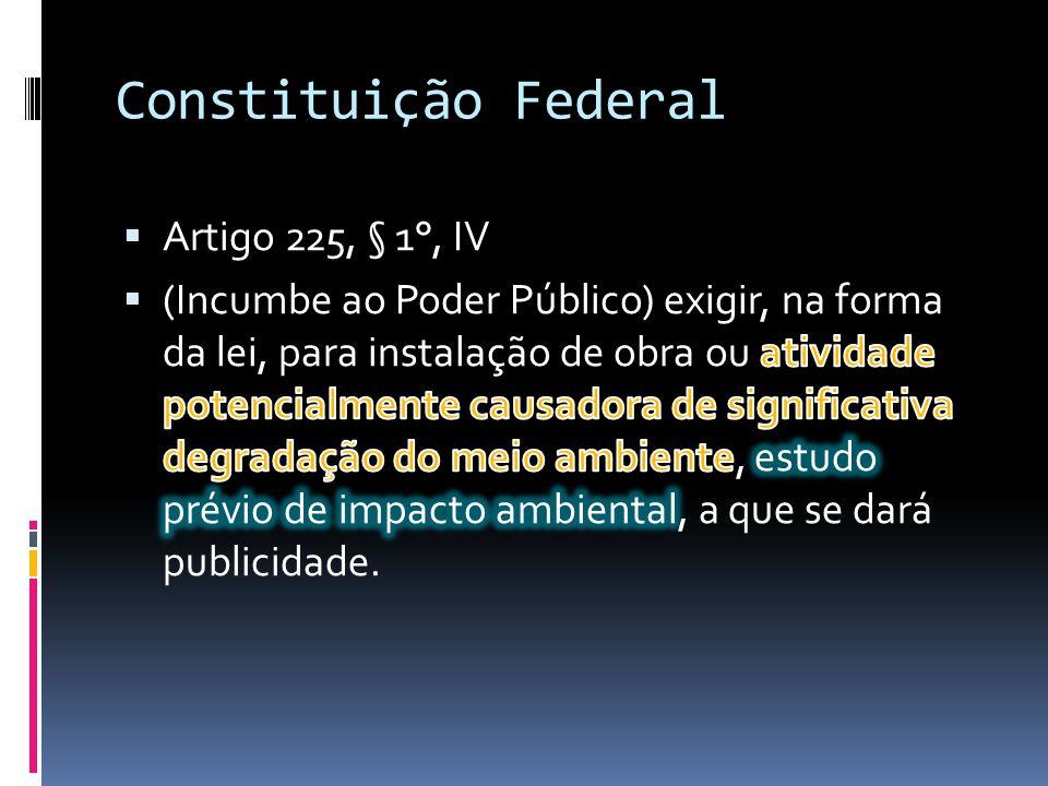 Constituição Federal Artigo 225, § 1°, IV