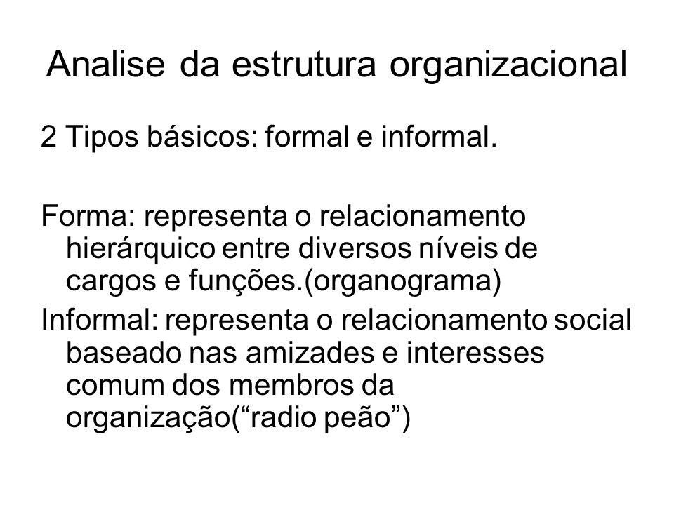Analise da estrutura organizacional
