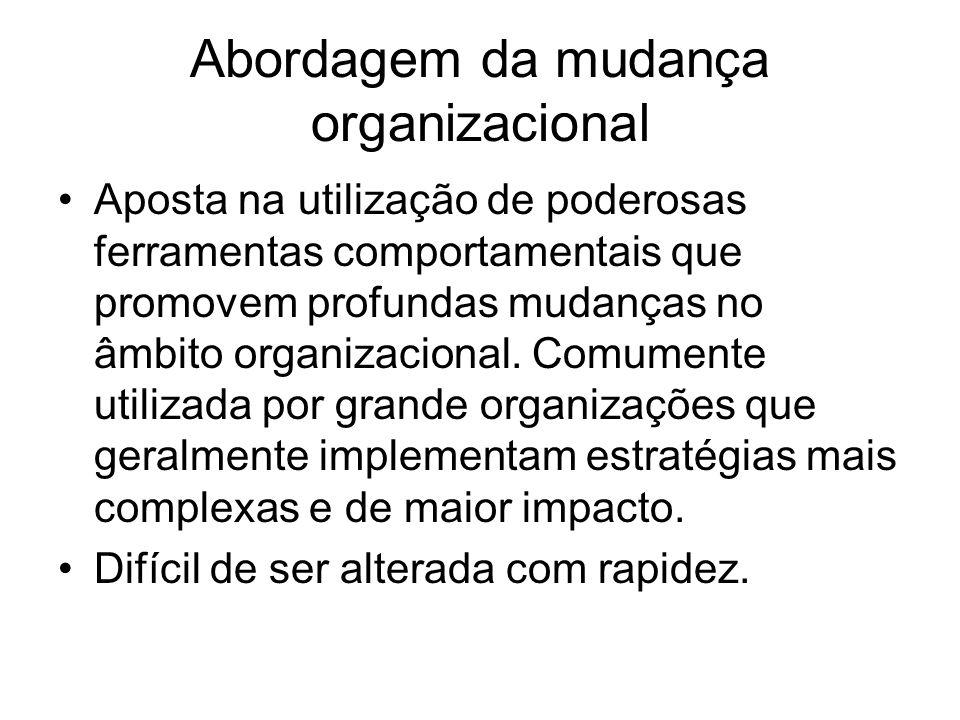 Abordagem da mudança organizacional