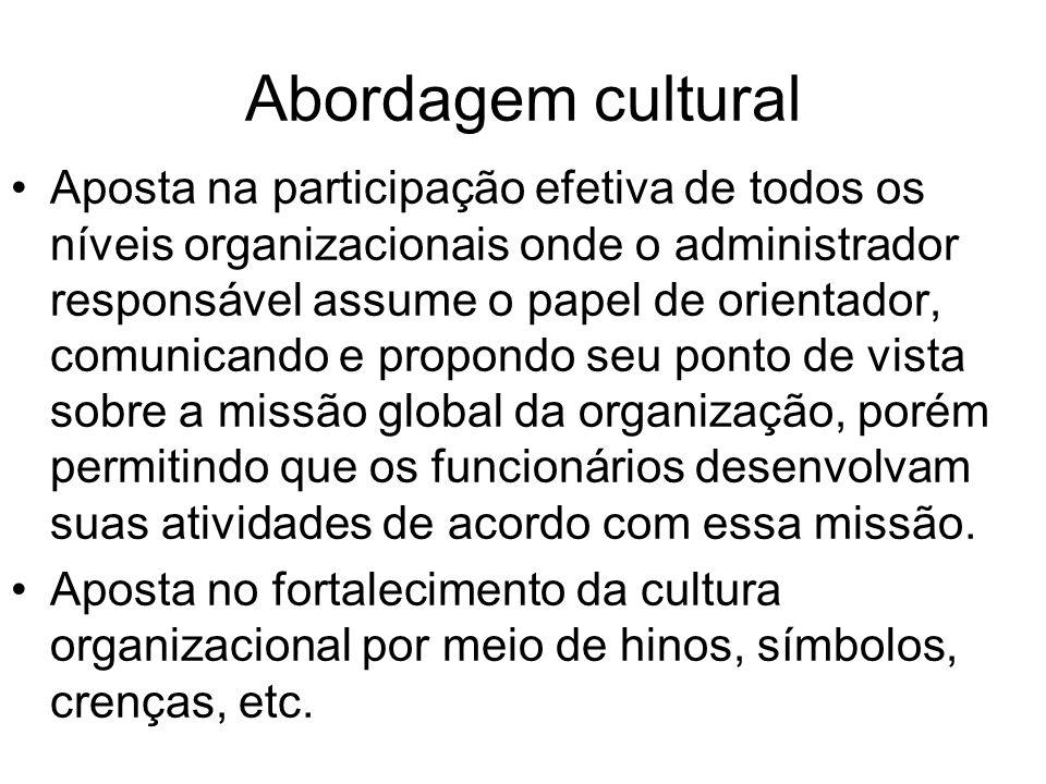 Abordagem cultural