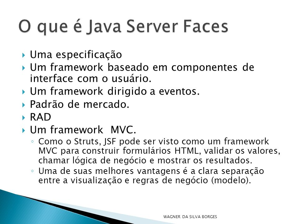 O que é Java Server Faces