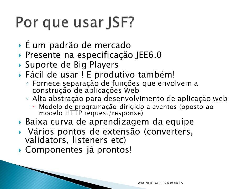 Por que usar JSF É um padrão de mercado