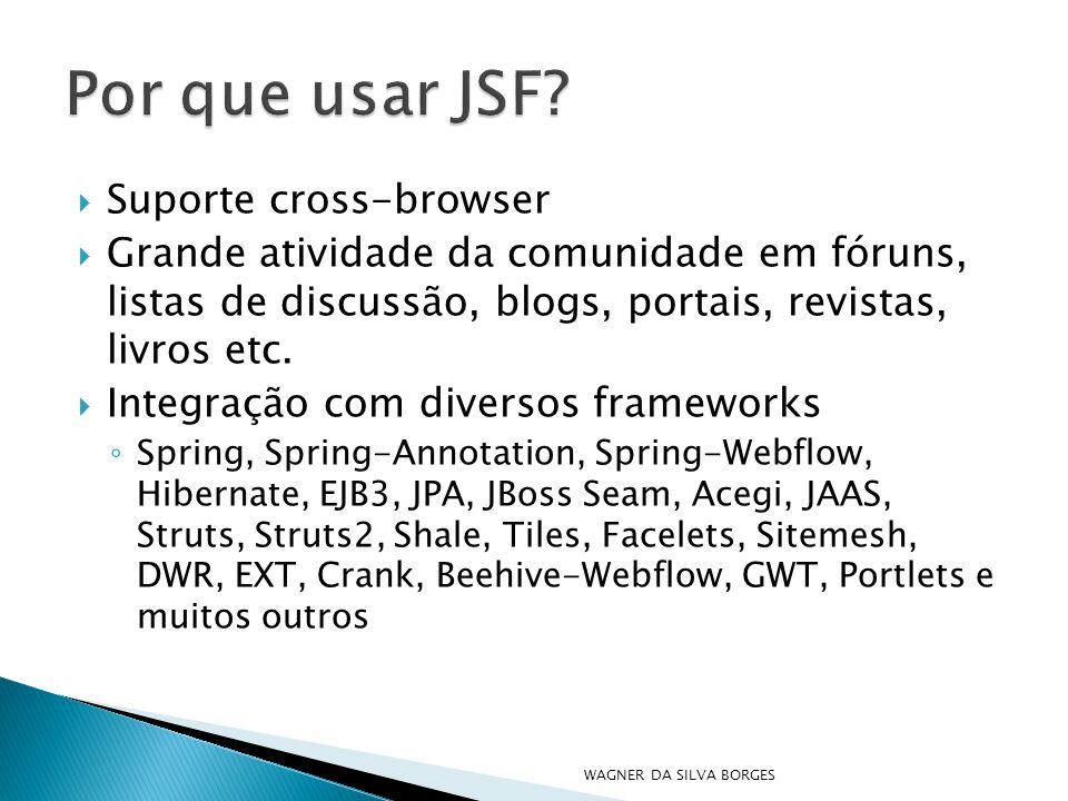 Por que usar JSF Suporte cross-browser