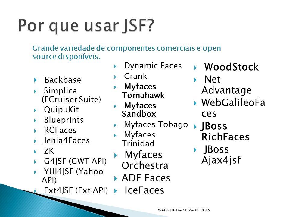 Por que usar JSF WoodStock Backbase Net Advantage WebGalileoFa ces