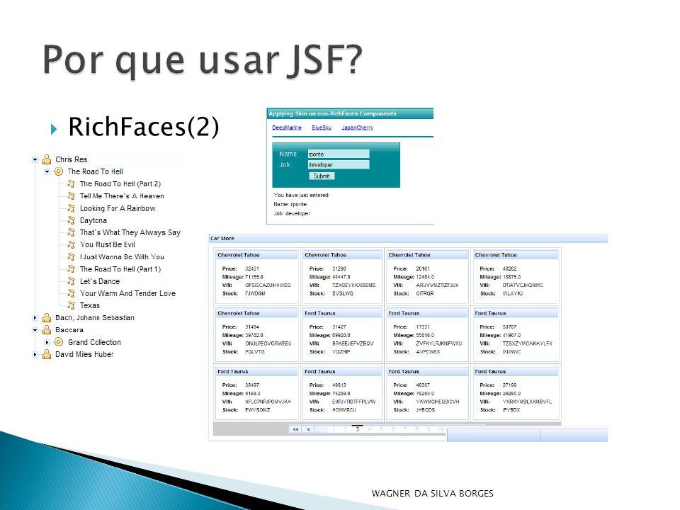 Por que usar JSF RichFaces(2) WAGNER DA SILVA BORGES