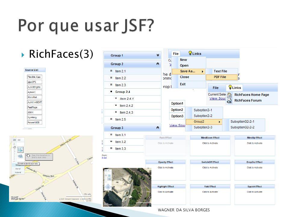 Por que usar JSF RichFaces(3) WAGNER DA SILVA BORGES