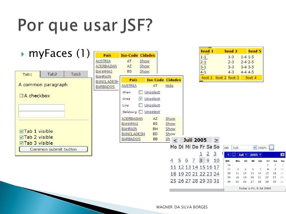 Por que usar JSF myFaces (1) WAGNER DA SILVA BORGES