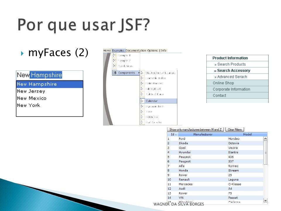 Por que usar JSF myFaces (2) WAGNER DA SILVA BORGES