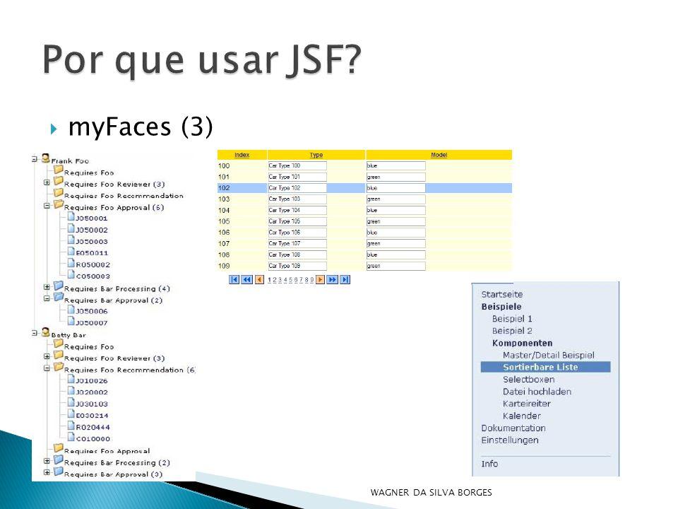 Por que usar JSF myFaces (3) WAGNER DA SILVA BORGES