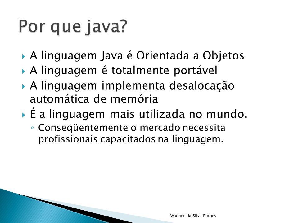 Por que java A linguagem Java é Orientada a Objetos