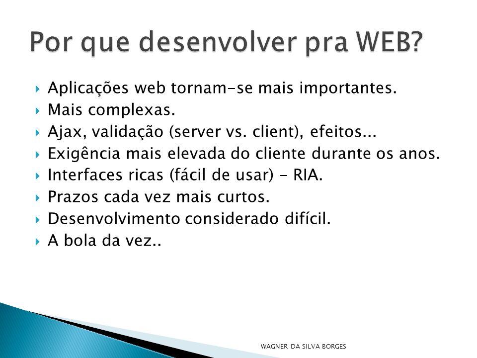 Por que desenvolver pra WEB