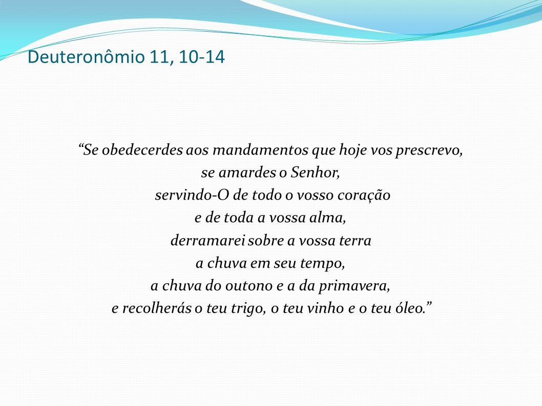 Deuteronômio 11, 10-14