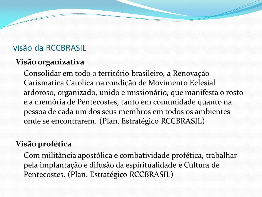 visão da RCCBRASIL Visão organizativa
