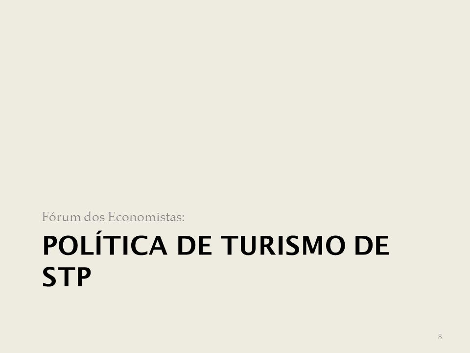 Política de Turismo de STP