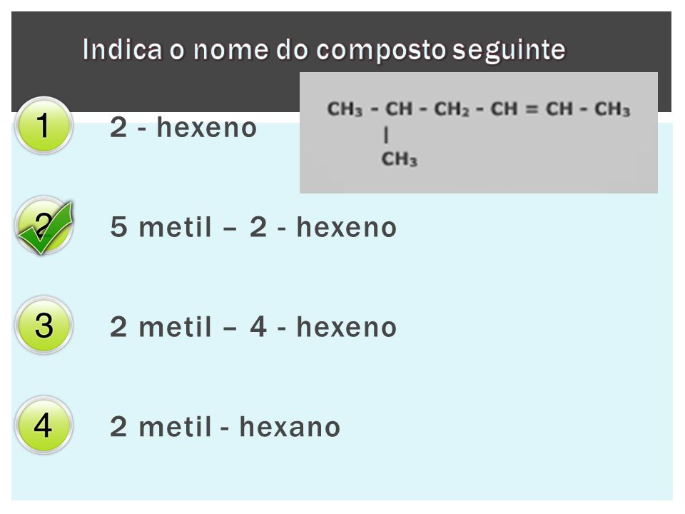 Indica o nome do composto seguinte