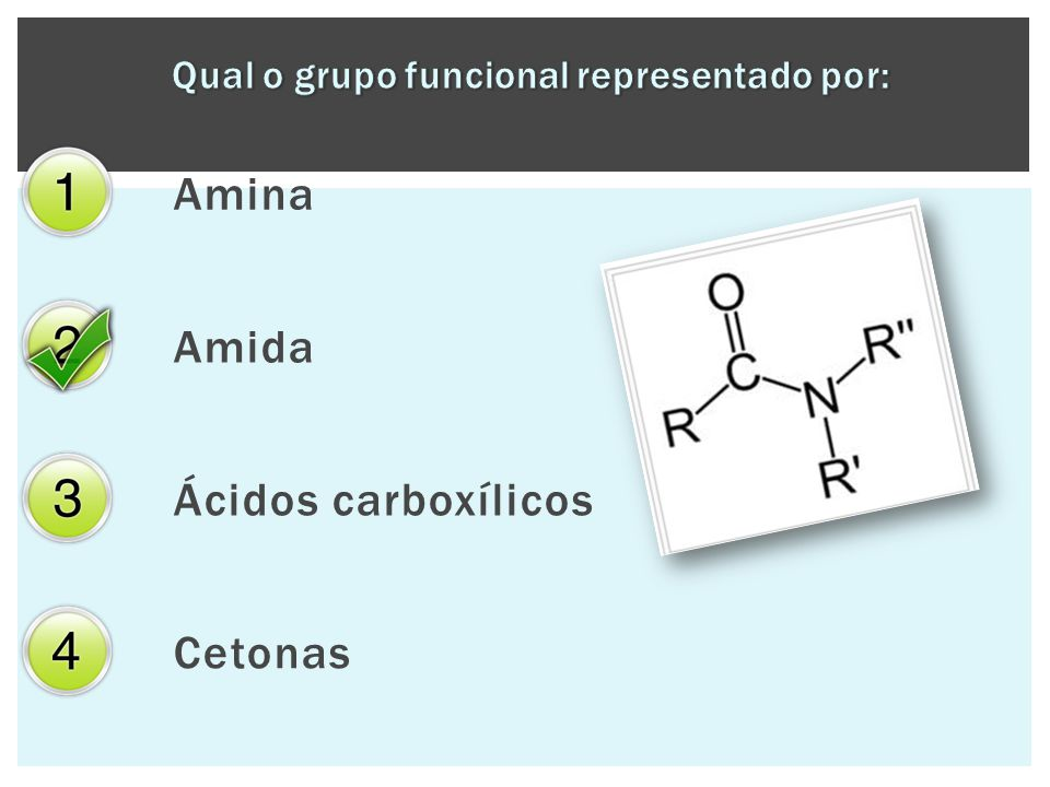 Qual o grupo funcional representado por: