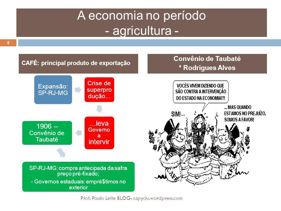 A economia no período - agricultura -