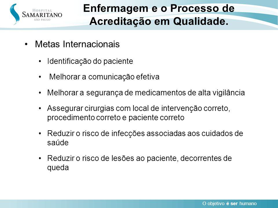 Enfermagem e o Processo de Acreditação em Qualidade.