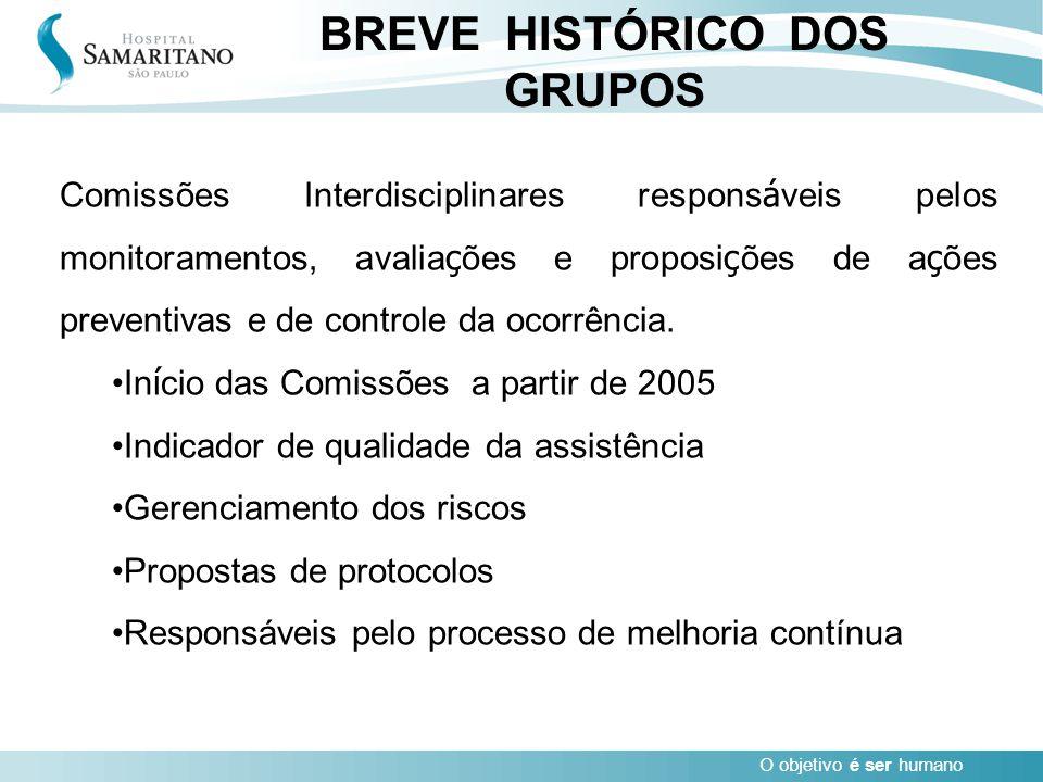 BREVE HISTÓRICO DOS GRUPOS