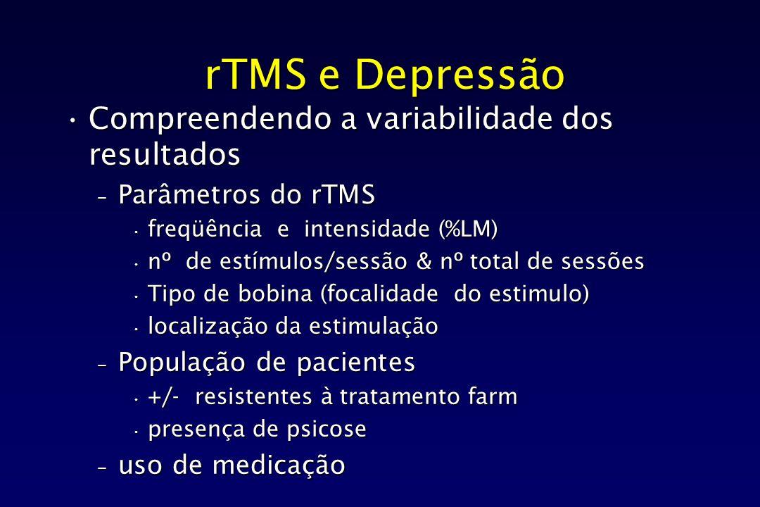 rTMS e Depressão Compreendendo a variabilidade dos resultados