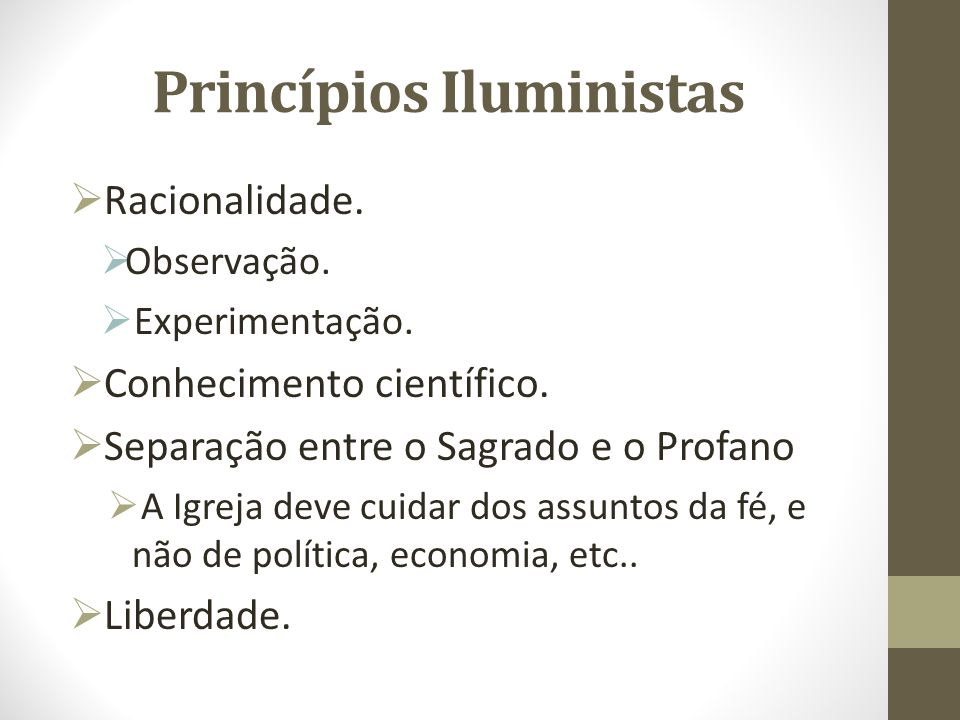 Princípios Iluministas