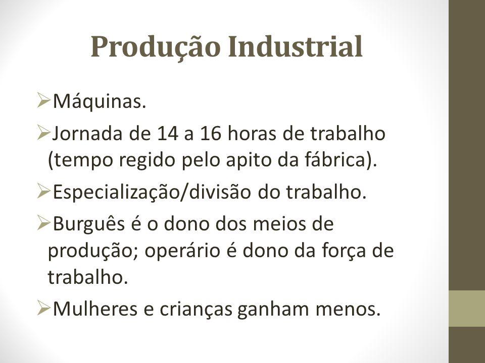 Produção Industrial Máquinas.