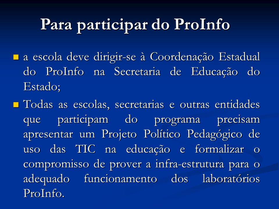 Para participar do ProInfo