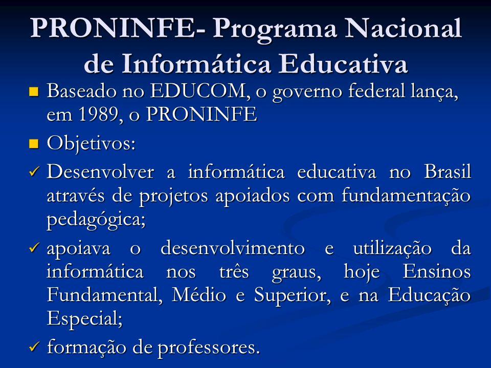 PRONINFE- Programa Nacional de Informática Educativa