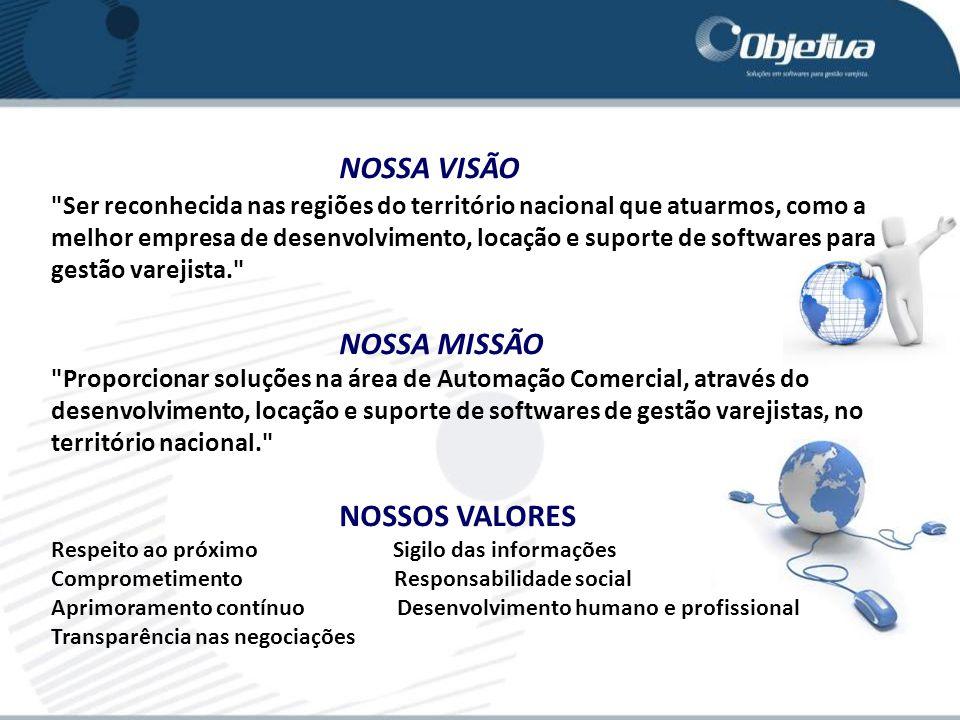 NOSSA VISÃO NOSSA MISSÃO NOSSOS VALORES