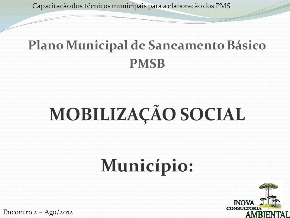 Plano Municipal de Saneamento Básico