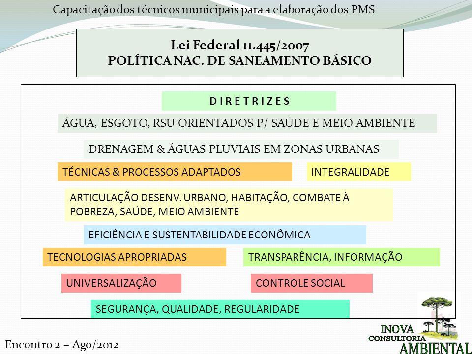 POLÍTICA NAC. DE SANEAMENTO BÁSICO