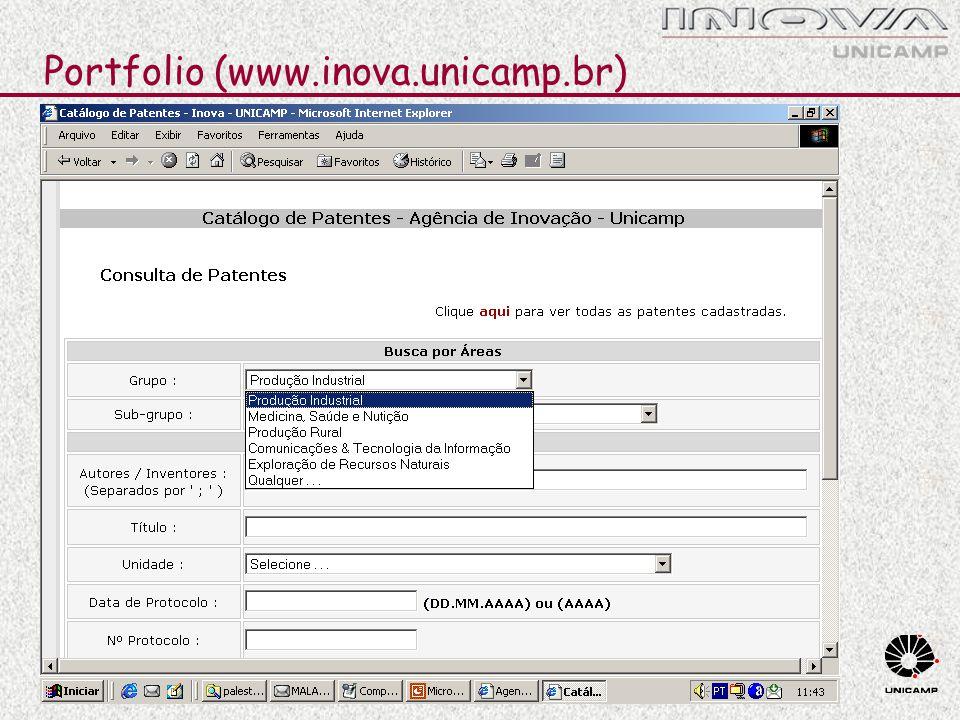 Portfolio (www.inova.unicamp.br)