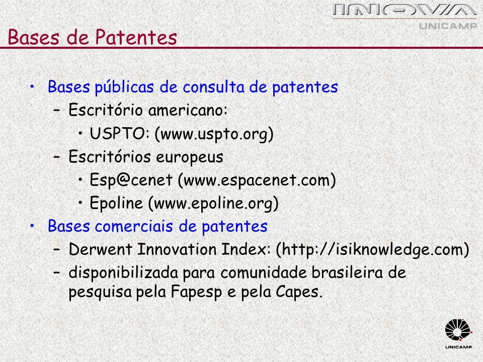 Bases de Patentes Bases públicas de consulta de patentes