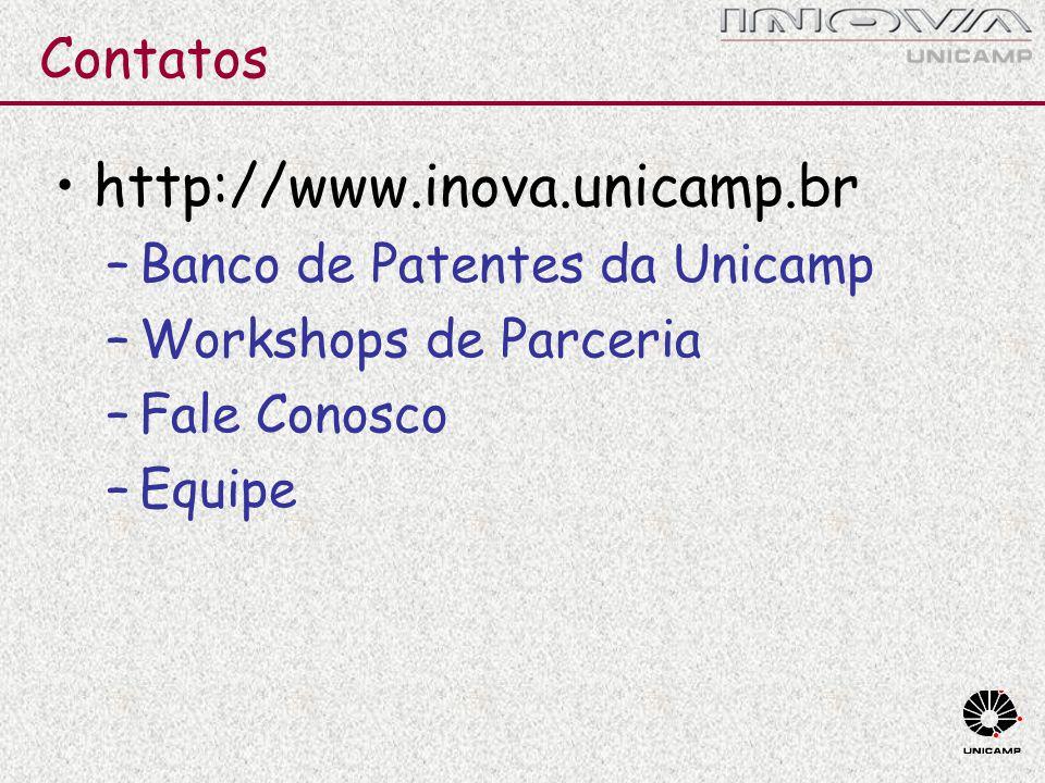 http://www.inova.unicamp.br Contatos Banco de Patentes da Unicamp