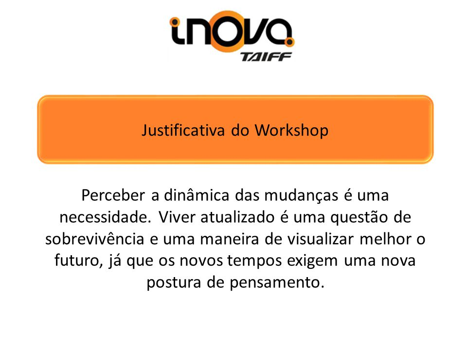 Justificativa do Workshop