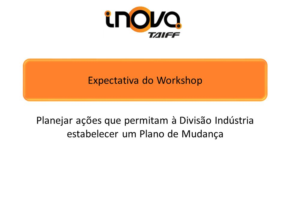 Expectativa do Workshop