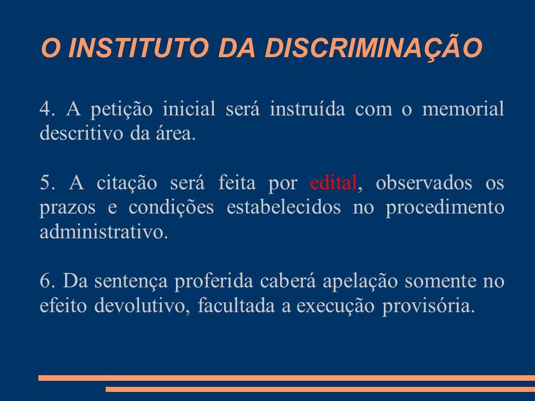 O INSTITUTO DA DISCRIMINAÇÃO