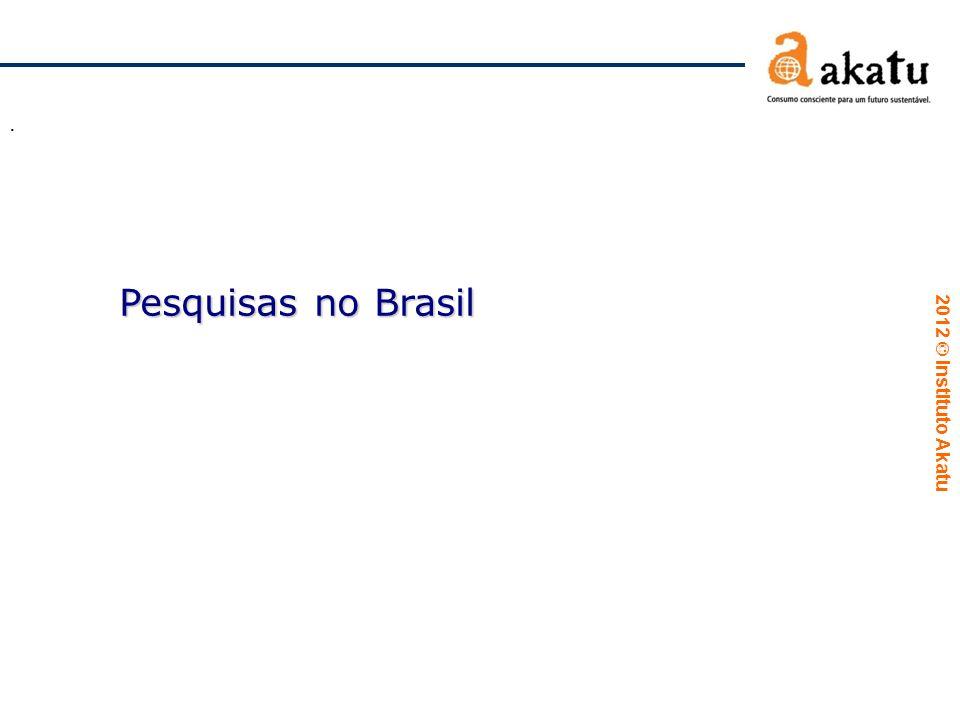 . Pesquisas no Brasil
