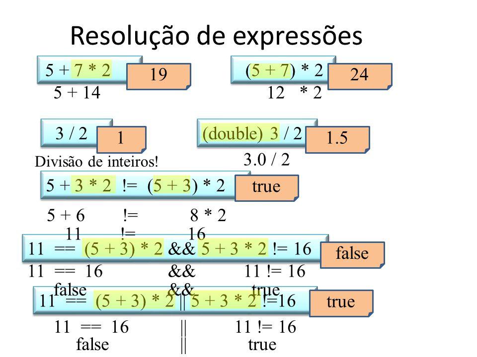 Resolução de expressões