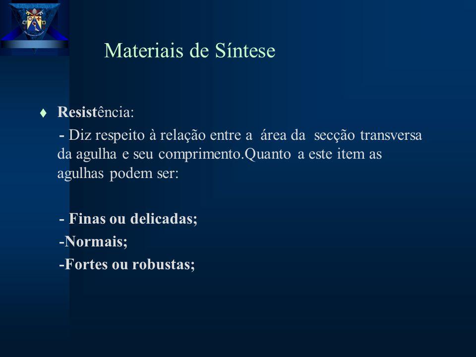 Materiais de Síntese Resistência: