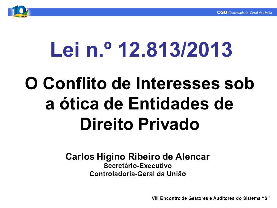 07/05/09 Lei n.º 12.813/2013. O Conflito de Interesses sob a ótica de Entidades de Direito Privado.