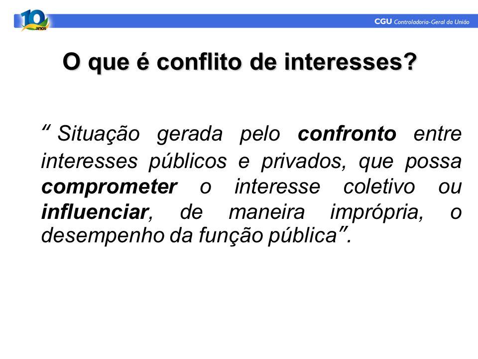 O que é conflito de interesses