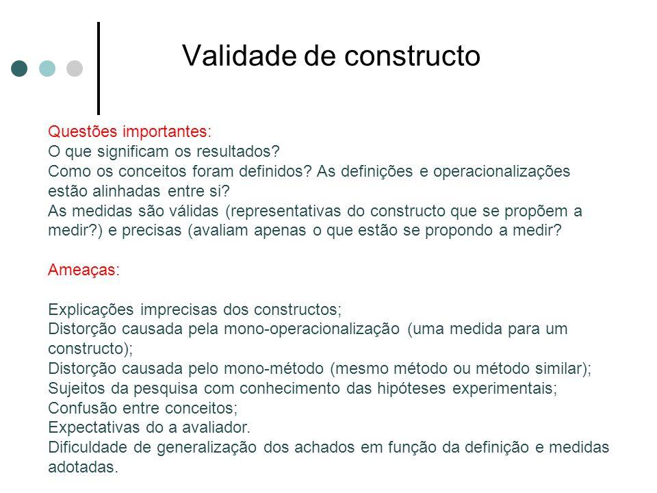 Validade de constructo