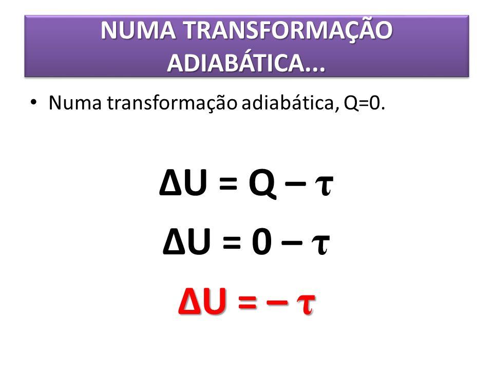 NUMA TRANSFORMAÇÃO ADIABÁTICA...