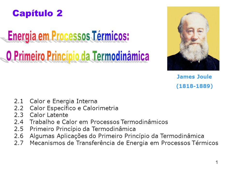 Capítulo 2 Energia em Processos Térmicos: