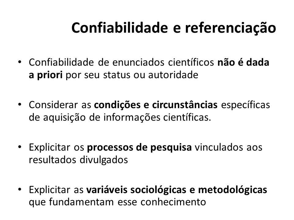 Confiabilidade e referenciação