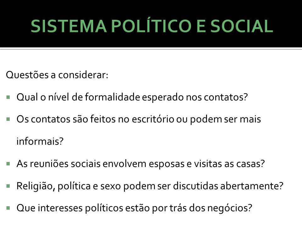 SISTEMA POLÍTICO E SOCIAL