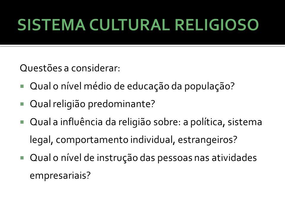 SISTEMA CULTURAL RELIGIOSO