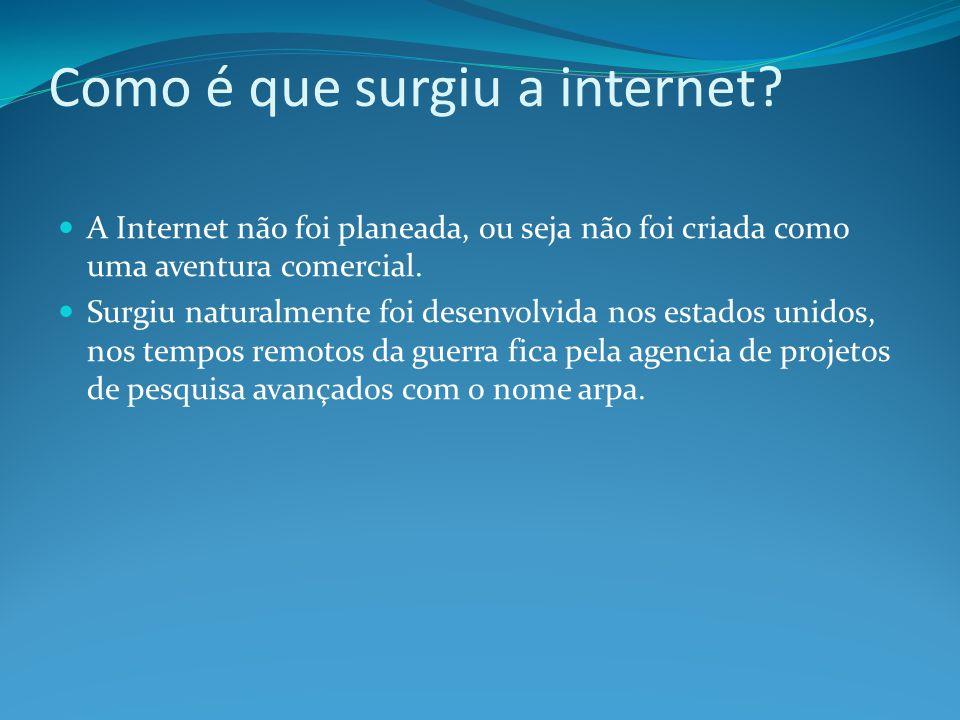 Como é que surgiu a internet